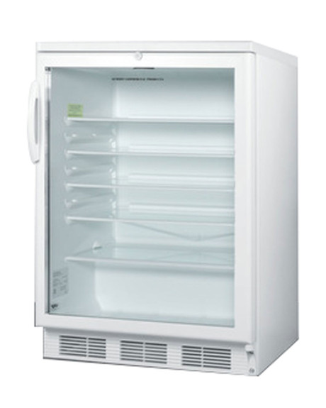 Summit Glass Door Under Counter Refrigerator - 5.5 cu. ft. - White