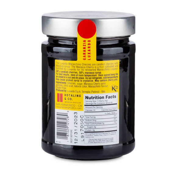 Luxardo Gourmet Maraschino Cocktail Cherries - 400g Jar