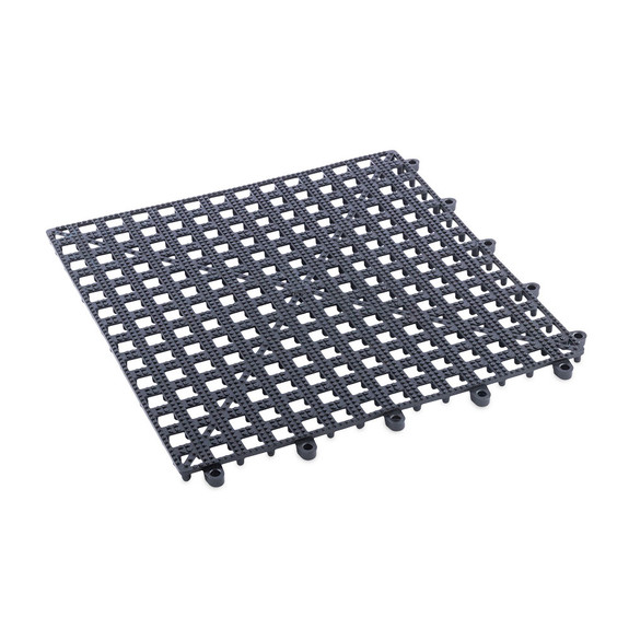 Interlocking Bar Glass Mat - 1 Square Foot - Black