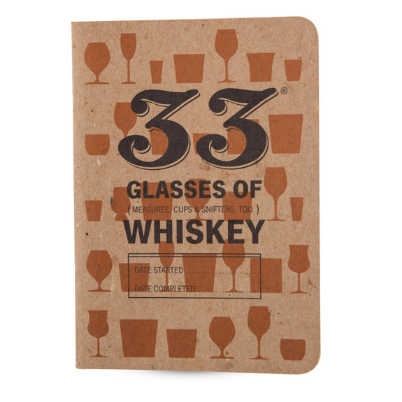 33 Drams of Whiskey Tasting Notebooks