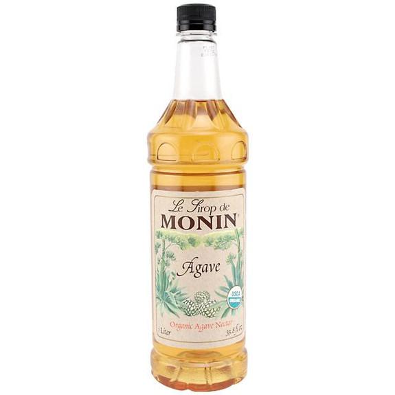 Monin Organic Agave Nectar Sweetener Syrup - 1 Liter
