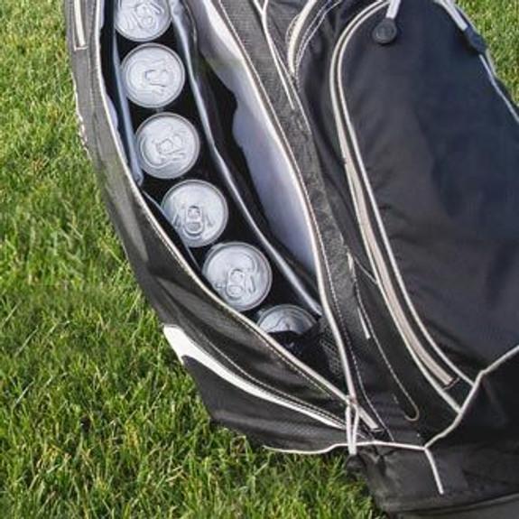 Par 6 Golf Bag Can Cooler in Golf Bag Closeup