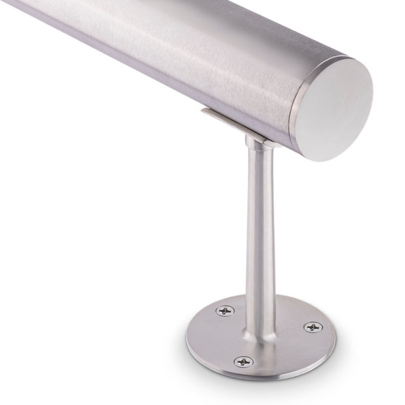 """Saddle Post - Brushed (Satin) Stainless Steel - 2"""" OD"""