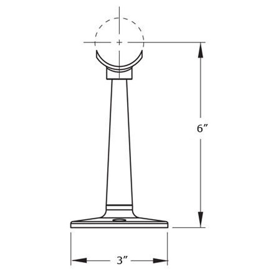 Saddle Post - Brushed (Satin) Stainless Steel - 2-inch OD