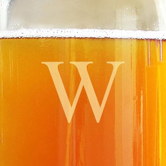 Personalized Beer Growler & Pilsner Tasting Glass Set Close up