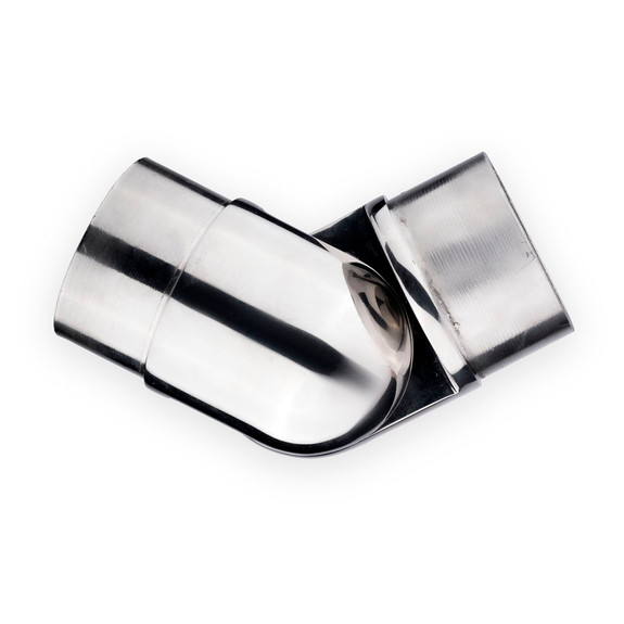 "Adjustable Flush Elbow - Polished Stainless Steel - 2"" OD"