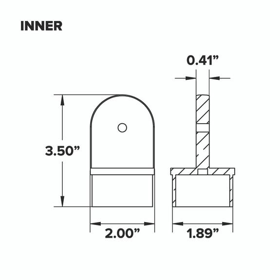 "Adjustable Flush Elbow - Polished Stainless Steel - 2"" OD - Inner"