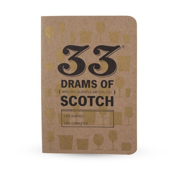 33 Drams of Scotch Tasting Notebook