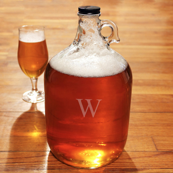 Personalized Clear Glass Beer Growler Jug (Glass not included)