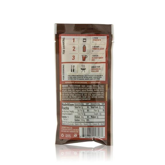 Demitri's Extra Horseradish Bloody Mary Seasoning Mix - 2 oz Pouch - Makes 1 Quart