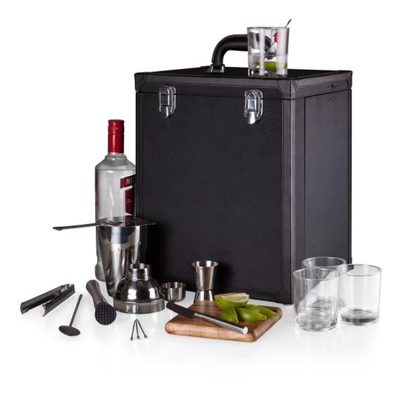 Hamilton Travel Bar Cocktail Tool Set - Black - 17 Pieces