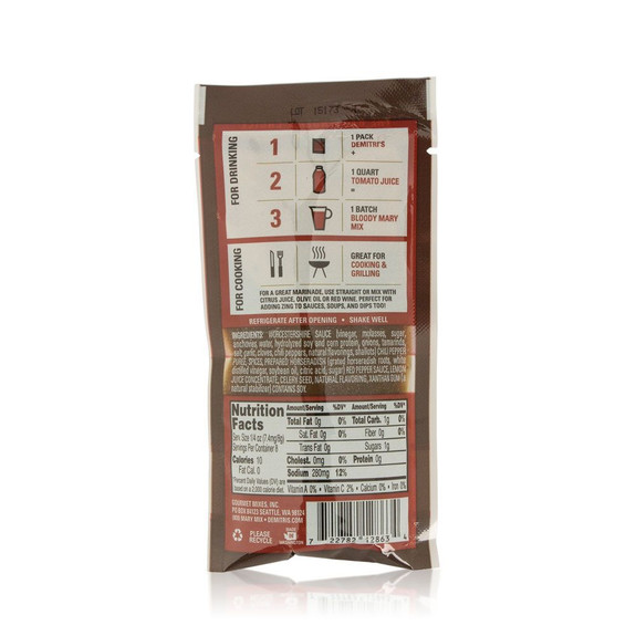 Demitri's Chilies & Peppers Bloody Mary Seasoning Mix - 2 oz Pouch
