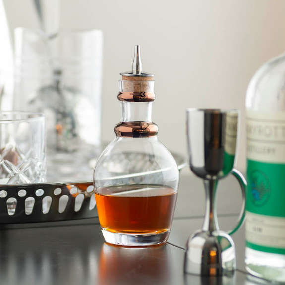 Urban Bar Georgian Bitters Bottle with Painted Copper Band - Stainless Steel Dasher Top - 220ml