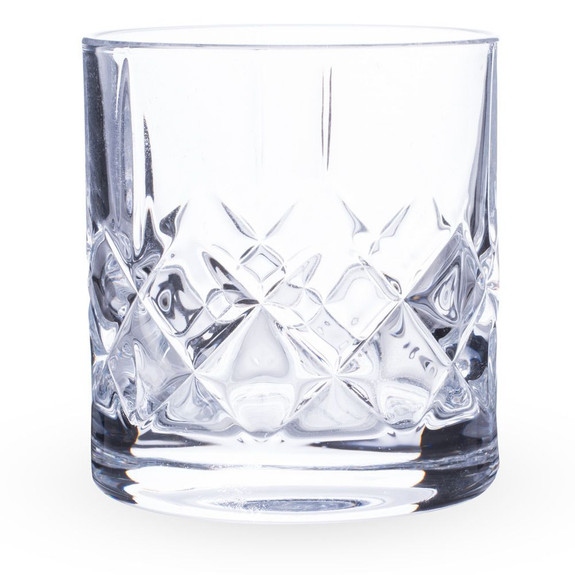 Urban Bar Ginza Cut Crystal Old Fashioned Whiskey Rocks Glasses - 10 oz - Set of 6