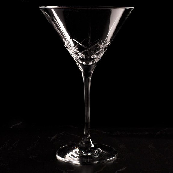Urban Bar Ginza Cut Crystal Martini Glasses - 7 oz - Set of 6