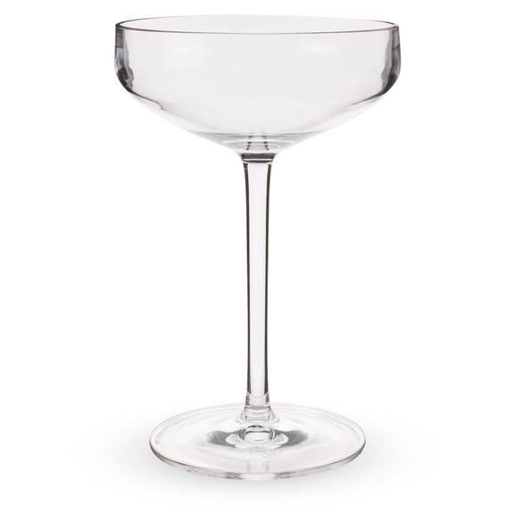 Urban Bar Iris Coupe Glasses - Shatterproof Tritan Plastic - 9.8 oz - Set of 6