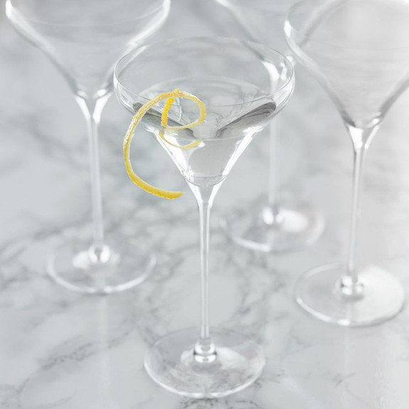 Spiegelau Willsberger Crystal Martini Glasses - Set of 4 - 9.2 oz