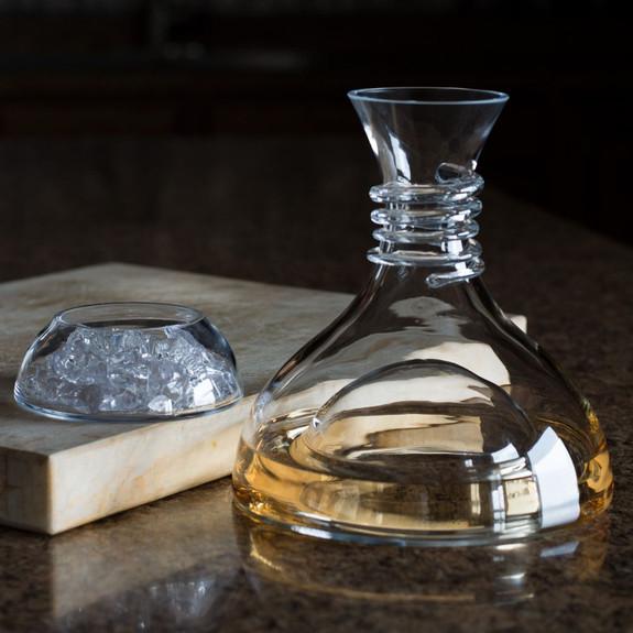 Spiegelau Red & White Two-Piece Crystal Wine Decanter - 1 Liter