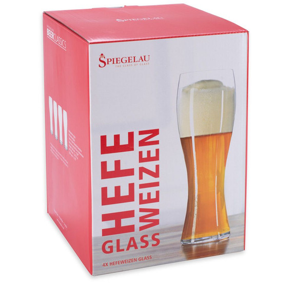 Spiegelau Crystal Hefeweizen Beer Glasses - Set of 4 - 24.7 oz
