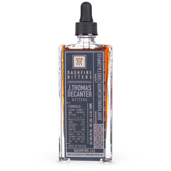 Dashfire Jerry Thomas Decanter Cocktail Bitters - Specialty Series - 3.4 oz