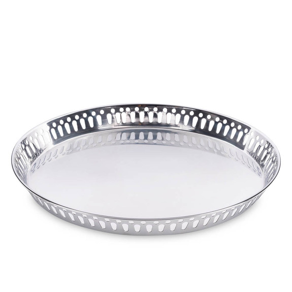 """Crafthouse by Fortessa Mirror-Polished Stainless Bar Serving Tray - 15.6"""" Dia"""