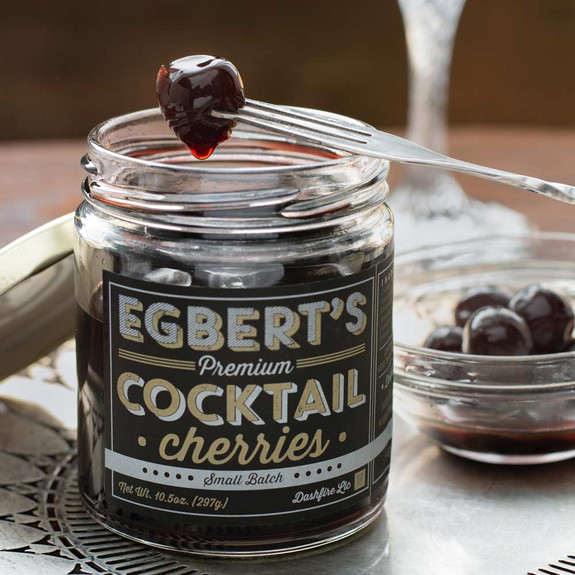 Egbert's Small Batch Brandied Cocktail Cherries by Dashfire - 10.5 oz Jar