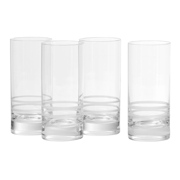 Crafthouse by Fortessa Tritan Crystal Etched Collins Glasses - 16.2 oz - Set of 4