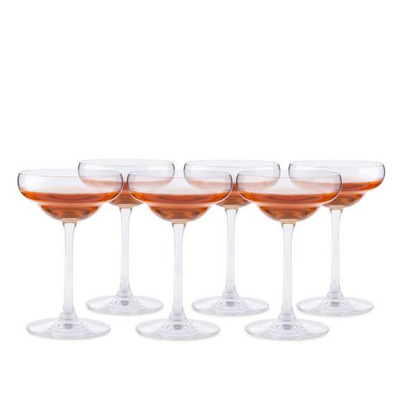 Urban Bar Coley Crystal Coupe Glasses - 5.8 oz - Set of 6