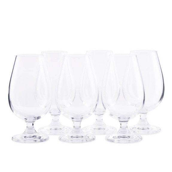 Urban Bar Crystal Malt Whiskey Nosing & Tasting Glasses - 6 oz - Set of 6