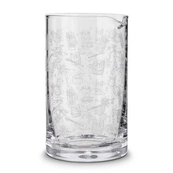 Urban Bar Tiki Pattern Mixing Glass - 800ml
