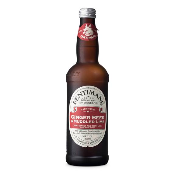 Fentimans Ginger Beer & Muddled Lime - 16.9 oz Bottle