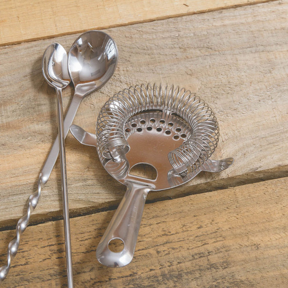 Bar Cocktail Strainer on wooden table