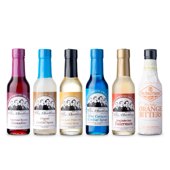 Fee Brothers Bar Cocktail Mixers Starter Pack - Set of 6