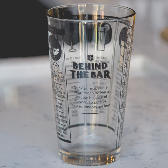 Behind The Bar��� Cocktail Recipe Mixing Glass - 16 oz