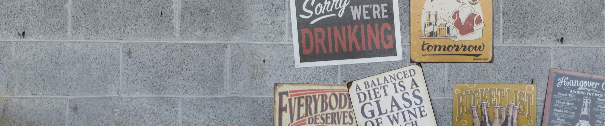 Shop Bar Signs