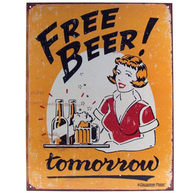 Drink More Beer Support Leprechauns Irish Beers Alcohol Humor Metal Sign