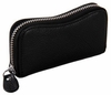Zippered Leather Key Case Wallet