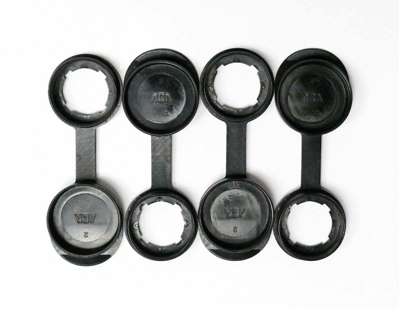 Cam Lock Dust Cover-Black Heavy Duty Plastic-Set of 4