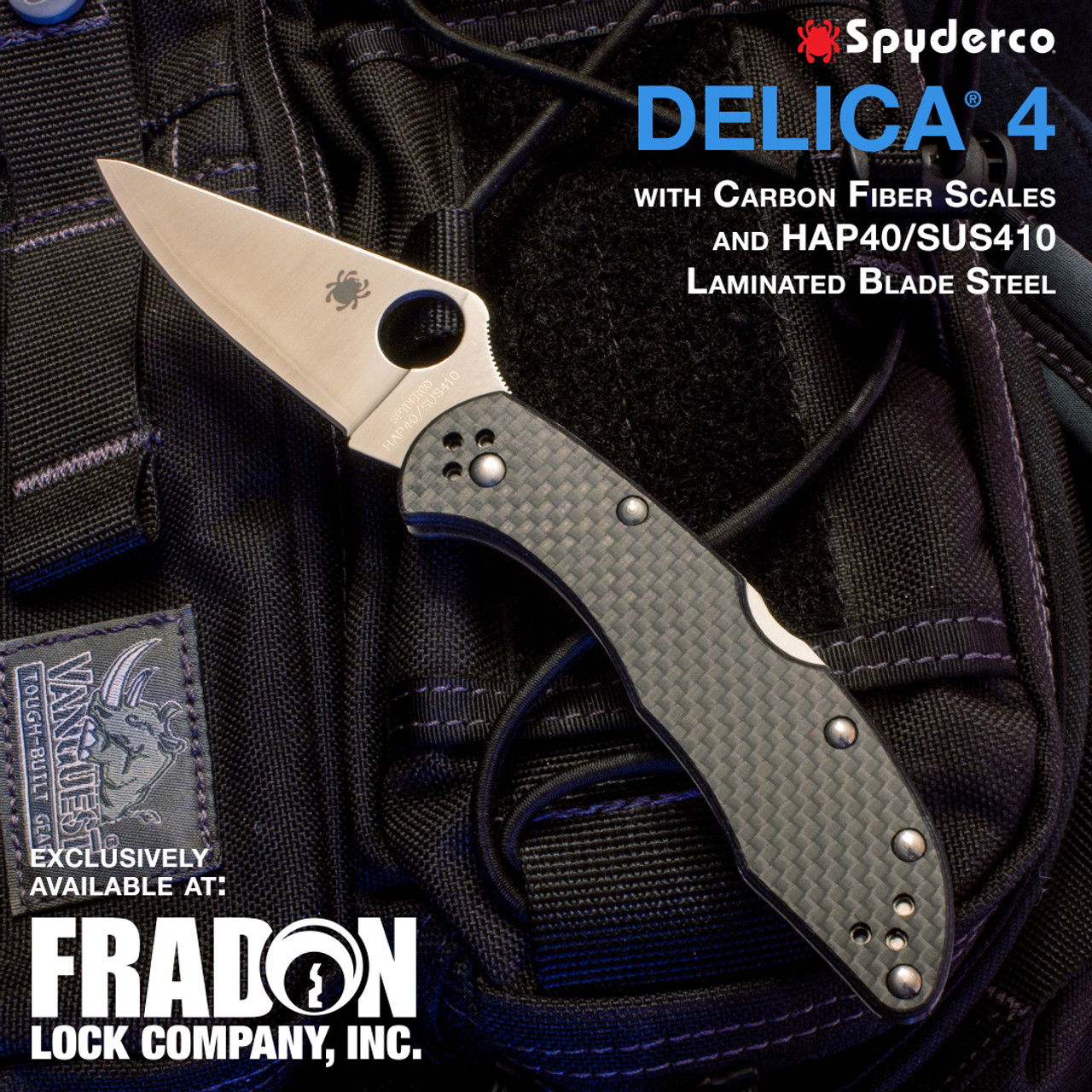Spyderco Exclusive For Fradon Delica C11FPCFE HAP40/SUS410 Carbon Fiber Knife
