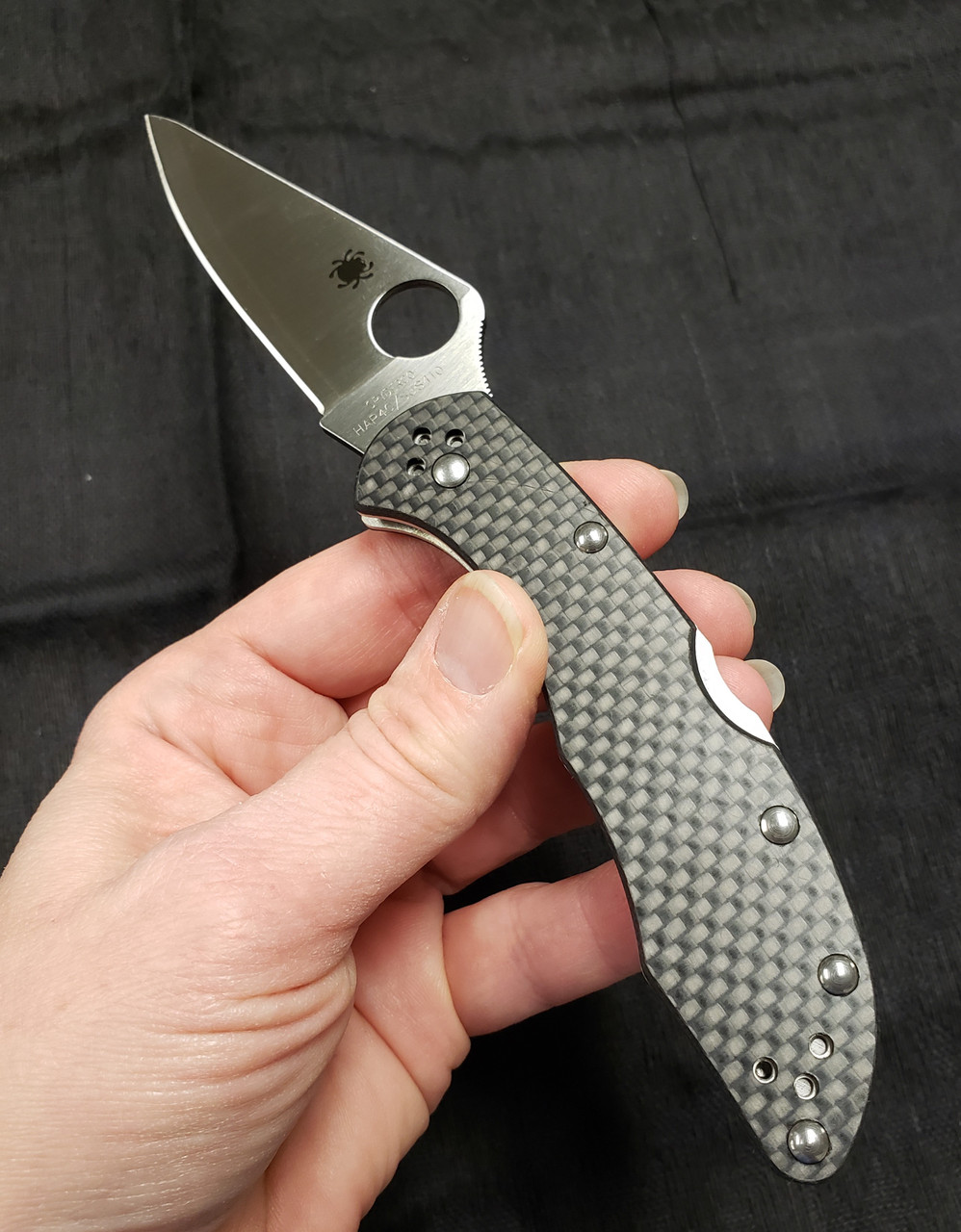 Spyderco Delica - Exclusive For Fradon Lock - Carbon Fiber Scales