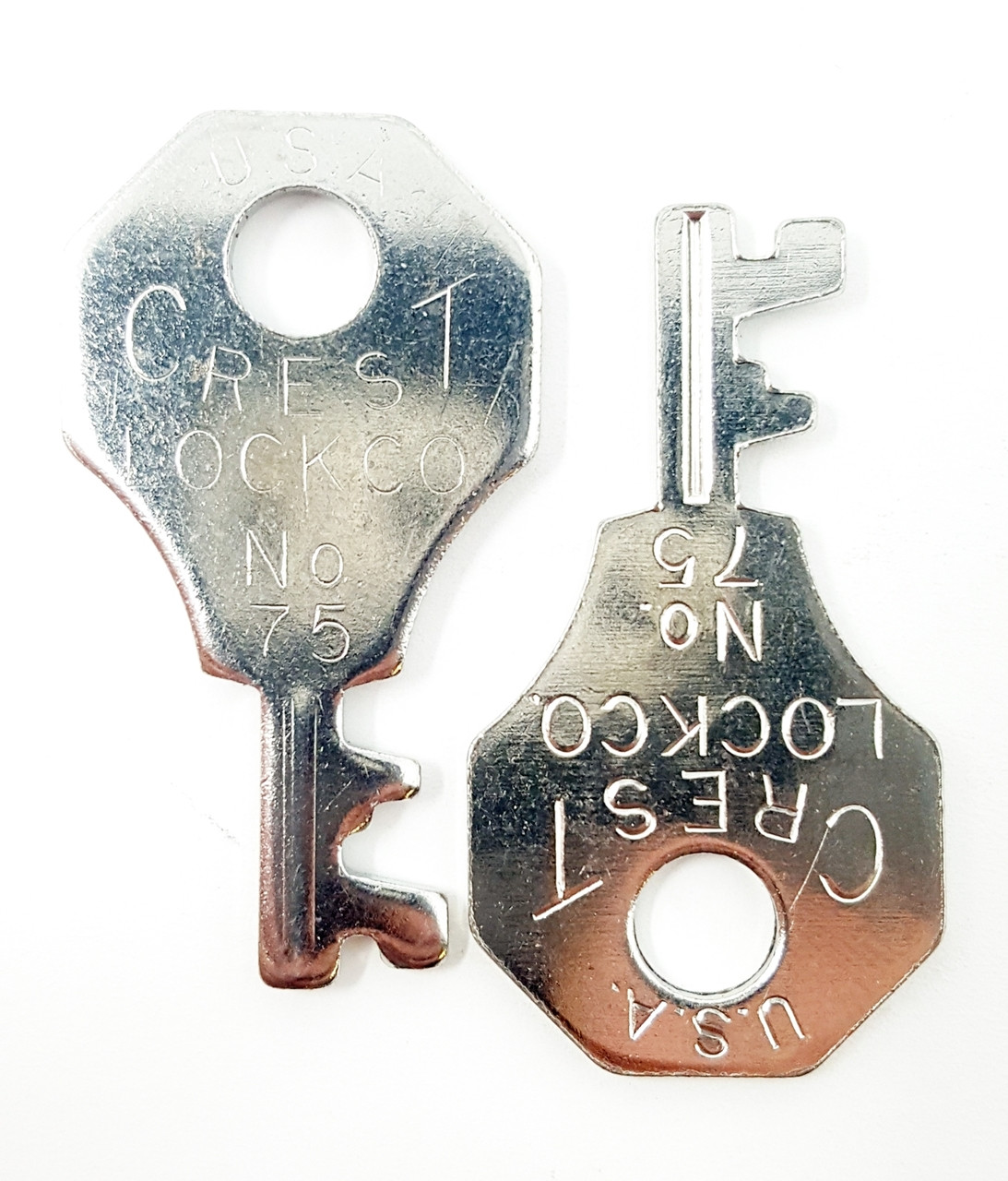 Crest Number 75 Luggage Key One Pair