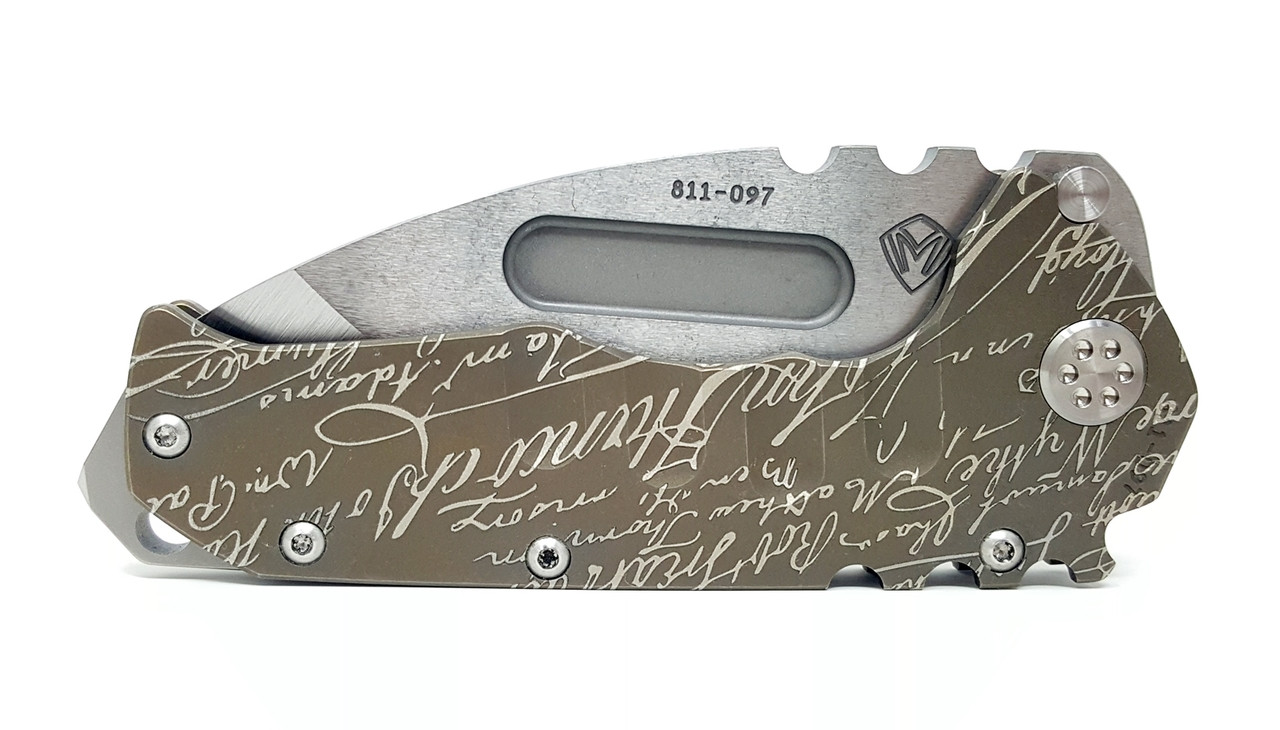 Medford Knife Tool Praetorian T Tanto Point Custom Declaration of Independence Theme CPM S35VN