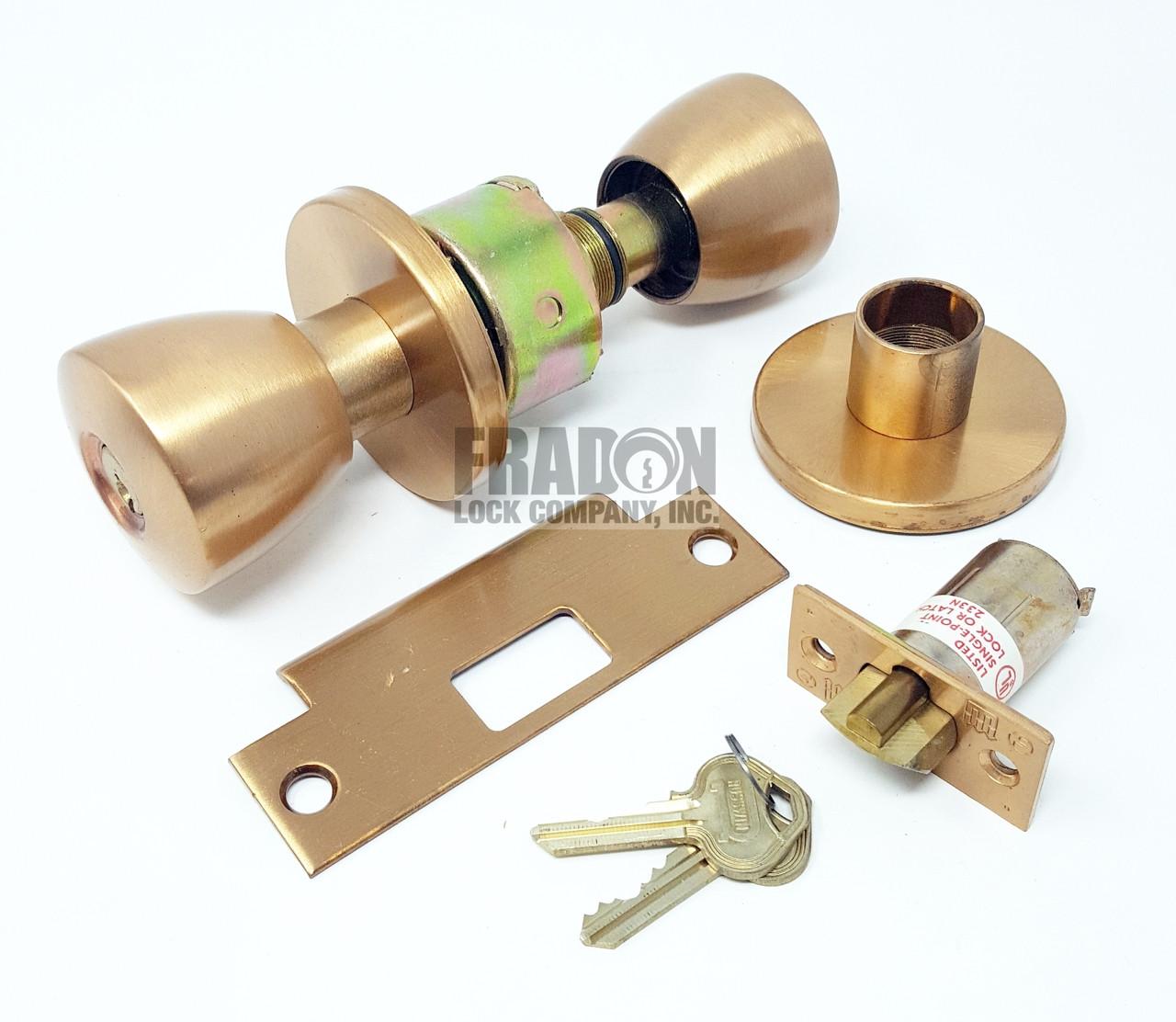 Russwin Heavy Duty Commercial Knob Storeroom Closet Satin Bronze CK4257-BRC-612 NOS
