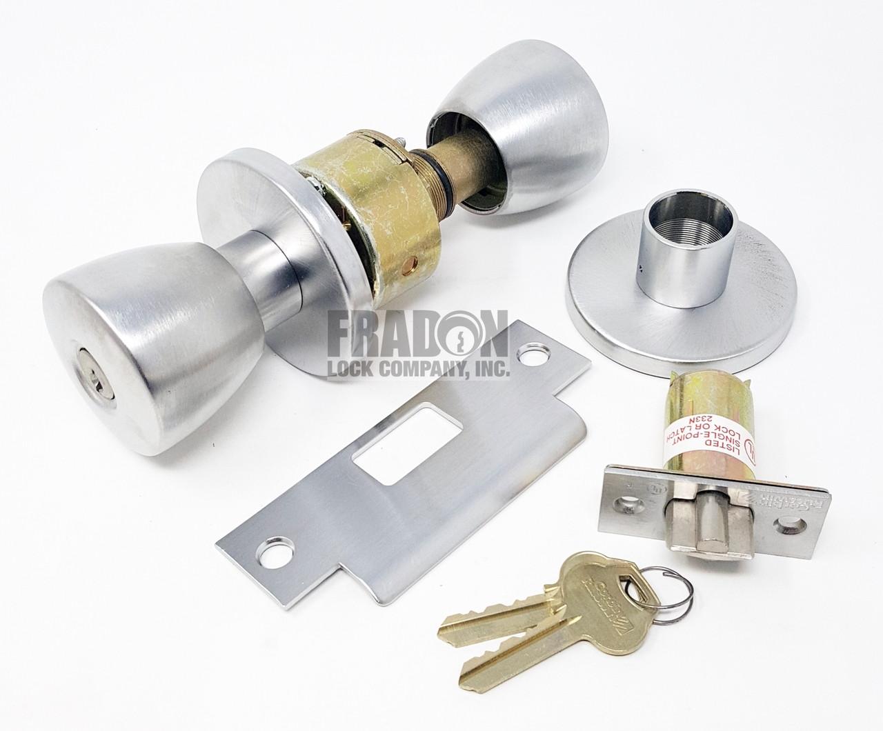 Russwin Heavy Duty Commercial Knob Entry Office Satin Chrome CK4261-BRC-626 NOS