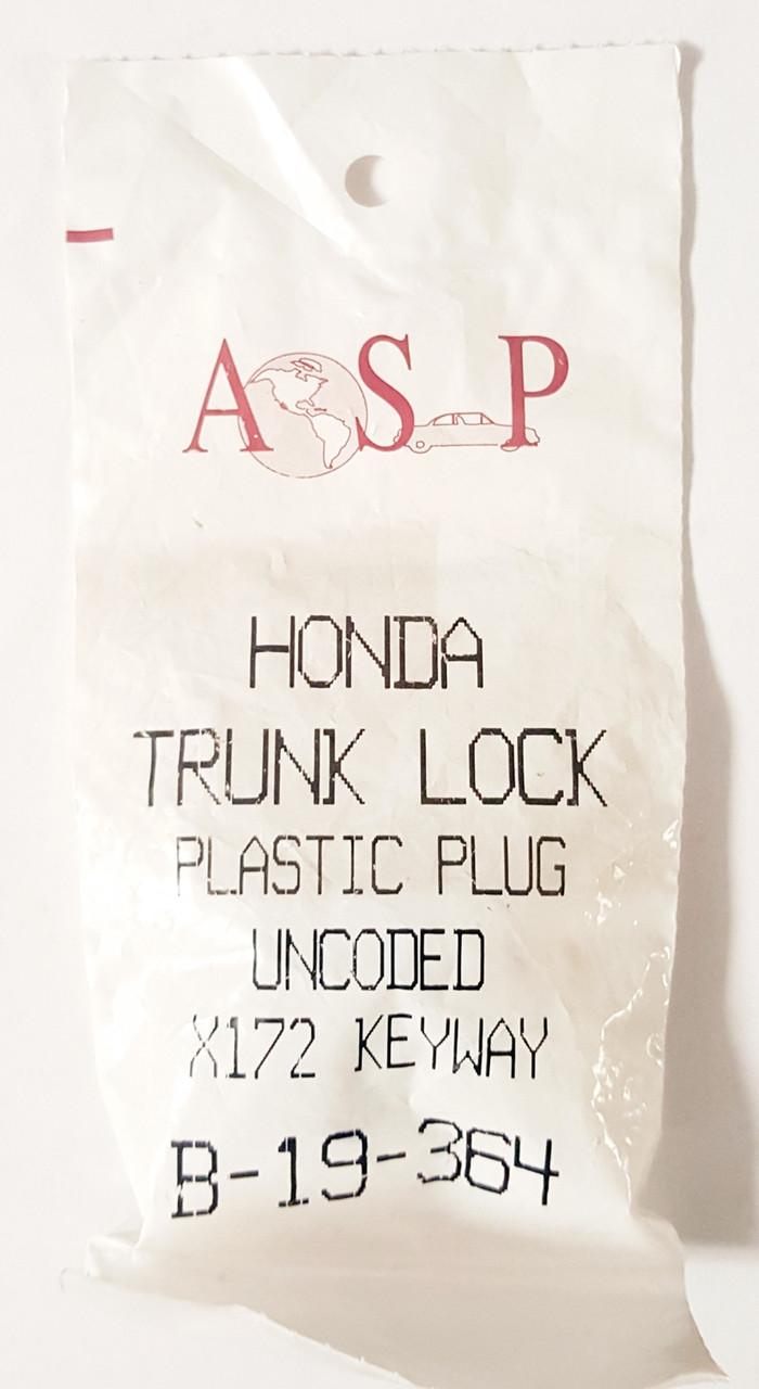 ASP Honda Trunk Plastic Plug Uncoded X172 Keyway B-19-364