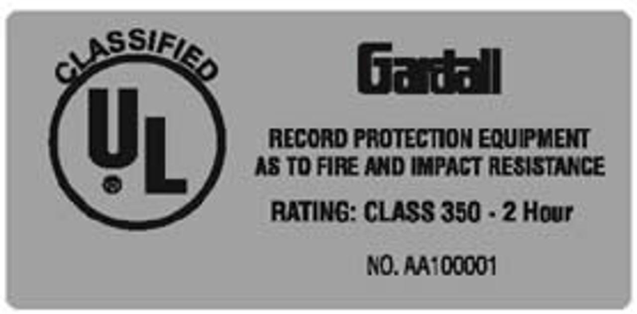 Gardall Fire Label