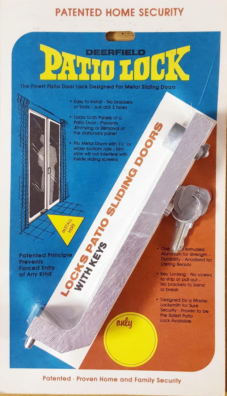 DL550 Deerfield Patio Sliding Door Lock w/ Keys