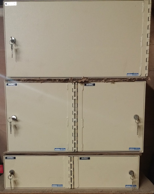 Amsec Custom Lockers, 3 separate pieces, stacked. Top unit is SOLD!