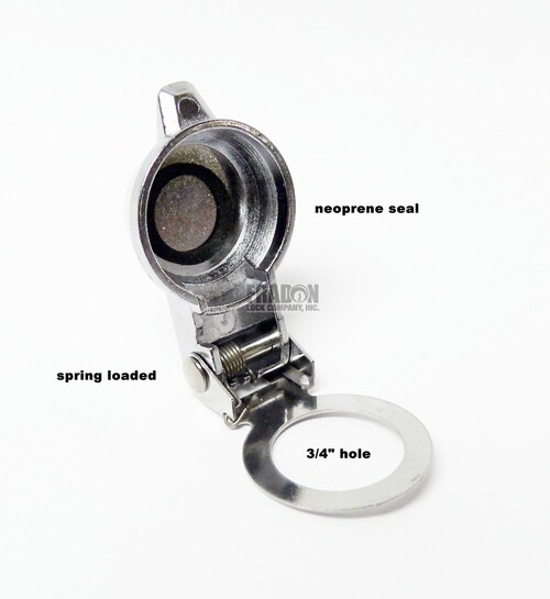 Die Cast Metal Cam Lock Dust Cover Spring Loaded T107