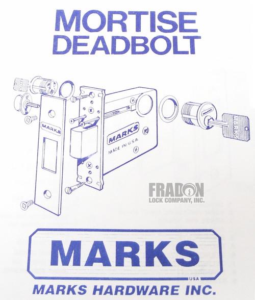 Marks 3000 Brass Mortise Deadbolt